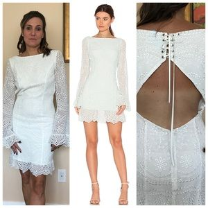 New- MAJORELLE- Esmeralda Dress In off white